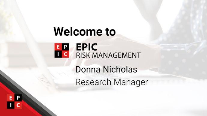EPIC Risk Management hire research expert Dr Donna Nicholas